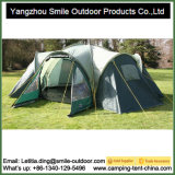 Camping 6-Person Steel Frame Yurt Waterproof Family Tent 3 Rooms