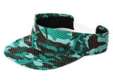 Fashion Unisex Green Camo Cotton Sun Visor Hat (with your Embroidery logo)