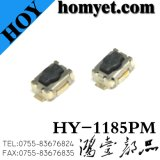 High Quality Tact Switch with 3.5*4.6*2.5mm Four Pin Black Base White Button SMD