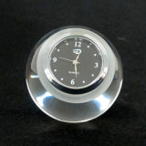 Clear Round Ball Crystal Glass Clock for Decoration