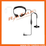 Flexible Throat Microphone Air Tube Earphone with Finger Ptt