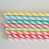 Colorful Striped Paper Drinking Straws Paper Stick
