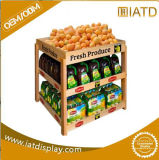 Pop up Wooden Store Supermarket Display for Fruit and Vegetable