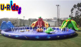 Inflatable Water Park, Inflatable Pool Combined with Inflatable Slide