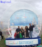 Giant Inflatable Human Snow Globe for Chritmas Decoration