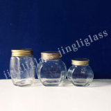 Vintage Clear Spice Storage Glass Mason Canister Jars with Aluminum Cap