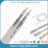 75ohms CATV Coaxial Cable Tri Shield RG6 Dual