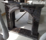 Marble Fireplace Mantle/Mantels with Electric Fireplace for Indoor