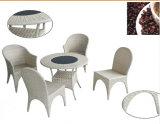 Pretty 5PCS White Rattan Furniture Set