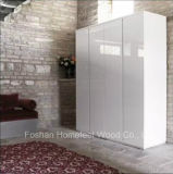 Wholesale White High Glossy Wardrobe with Hinged Door (HF-IK002)