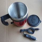 Red Double Wall Stainless Steel Auto Mug Dn-041A