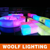 Modern Outdoor Waterproof Colored LED Lighted Furniture