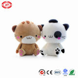 Cute Fancy White and Brown Cat Soft Stuffed Plush Toy