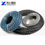 Diamond Wire Saw Cutting Concrete Granite Rocks