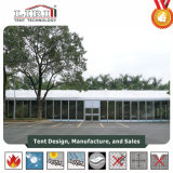 Tent with Glass Walls Used for Wedding Party and Events