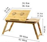 Adjustable Bamboo Computer Laptop Desk Foldable Computer Table