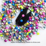 Neon Colors Nail Art Metal Gems Round Hot Fix Studs (HF nailhead/ round 2mm)