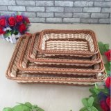 Wholesale PP Material Inmitation Rattan Basket, Storage Basket for Fruits and Vegetables