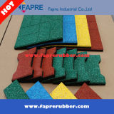 Red Dog-Bone Rubber Bricks, Rubber Tile