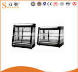 Display Food Warmer Showcase Round Glass Display Counter Pie Warmer