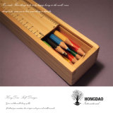 Hongdao Painted Wooden Pen Box for Gift_D