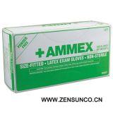 Ammex Hand Specific Latex Exam Gloves-Apflr
