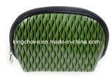 Latest Green Shiny Snake PU Cosmetic Bag (KCC40)