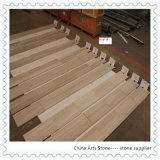 Chinese Nature Stone Wooden White Marble Tile
