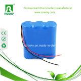 Lithium Battery Pack 11.1V 2600mAh 18650 for LED Lights