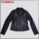 Fashion Women PU Jacket with Good Quality