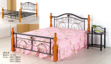 Simple Stable Home/Bedroom Furniture Painting Steel Bed (H-552#)