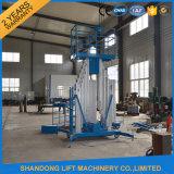 Ce Hydraulic Aluminum Mast Climbing Work Platform with Wheels