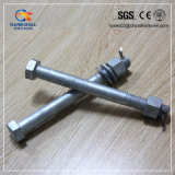 Galvanized Long Type Hex Head Bolt with Nut and Washer