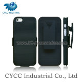 Fancy Black Combo PVC Mobile Phone Cover with Stand for iPhone 5g (5G)