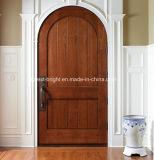Round Top Mahogany Wood Entry Door