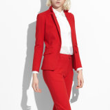 New Italian Style Red Color Bespoke Women Office Lady Suit