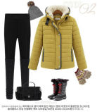 Fashion Lady Slim Down Jacket Down Coat Filled Winter Coat