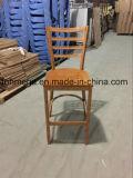 Wood Seat Metal Bar Stool for Restaurant (FOH-BC001)