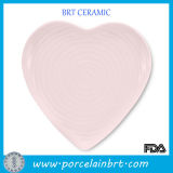 Romantic Pink Heart-Shaped Wedding Plates