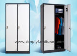 2 Doors Lockable Metal Wardrobe