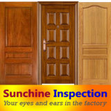 Quality Inspection for Wooden Door Doormat QC in Anhui Huainan