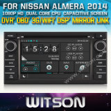 Witson Car DVD Player for Nissan Almera 2014 with Chipset 1080P 8g ROM WiFi 3G Internet DVR Support