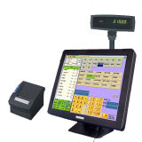 Touchscreen POS with Embedded Printer, Cash Drawer and MSC