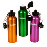 750ml Aluminum Sport Water Bottle with Two Lids