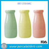Custom Color Small Wholesale Ceramic Milk Bottle