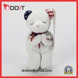 White American Flag Custom Logo Bear Standing Plush Toy