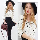 Wholesale New Fashion Clothing Long Sleeve Ladies Chiffon Blouse