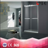 Sanitary Ware Tempered Glass Frame Sliding Shower Door Shower Enclosure Room with Stainless Steel K-23