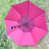 Fashion Straight Golf Sun Fan Umbrella with Windproof Function