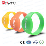 Hf Passive ISO14443A and ISO15693 13.56MHz NFC Waterproof Silicone Wristband/Bracelet